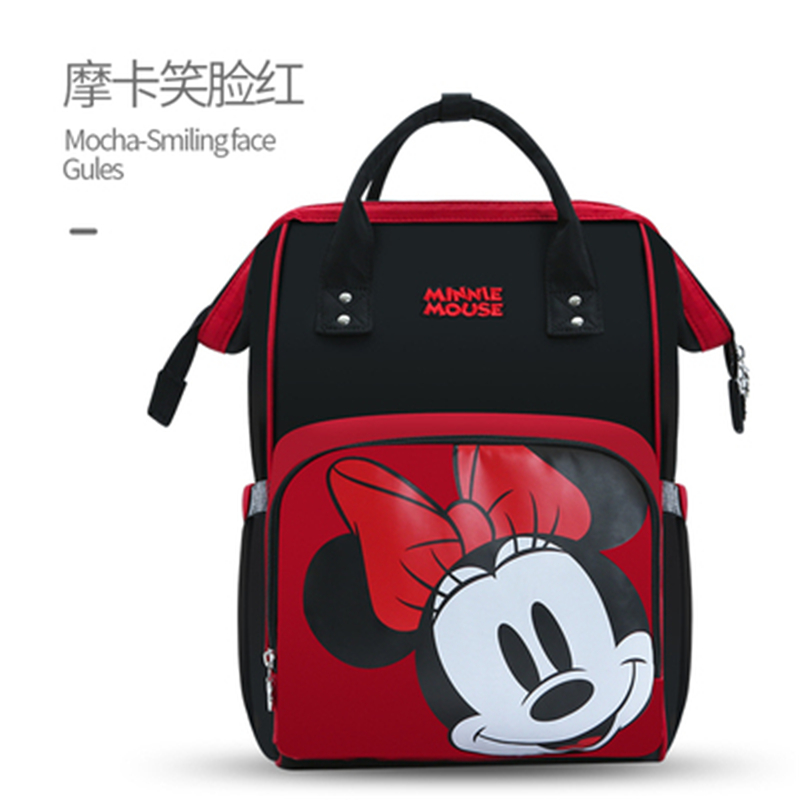 Disney Fashion Diaper Bag Travel Mother And Kid Backpack Large Capacity Multi-functional Waterproof Mickey Minnie Mommy Bag