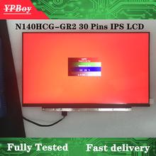 14.0 polegada fhd 1920x1080 72% ntsc edp 30 pinos N140HCG-GQ2 fosco N140HCG-GR2 brilhante led tela lcd ips matirx fru: 01yn158