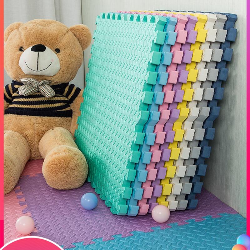 10PCS Baby Play Mat EVA Foam Children's Rug Kids Rug Puzzle Children's Mat Interlock Smmmer Cool Floor Playmat 30*30*1 CM