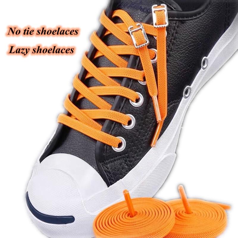 1Pair 24 Colors No Tie Shoelaces Elastic Shoelaces Kids Adult Quick Lazy Laces Flats Rubber Sneakers Running Shoelace