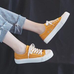 Image 4 - אופנה נשים של לגפר נעלי בד נעלי נשים לנשימה דירות שרוך גופר ספורט נעליים לנשים צבע סניקרס