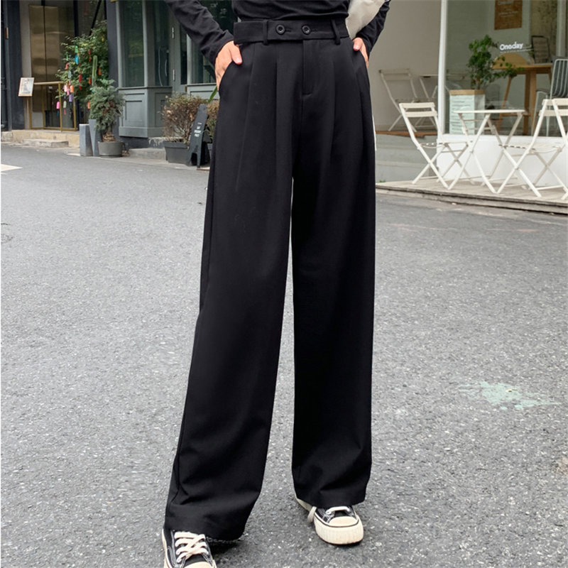 Alien Kitty High Quality Casual High Waist 2019 Autumn Straight Loose Women Full Length Fashion All-Match Solid Harem Trousers