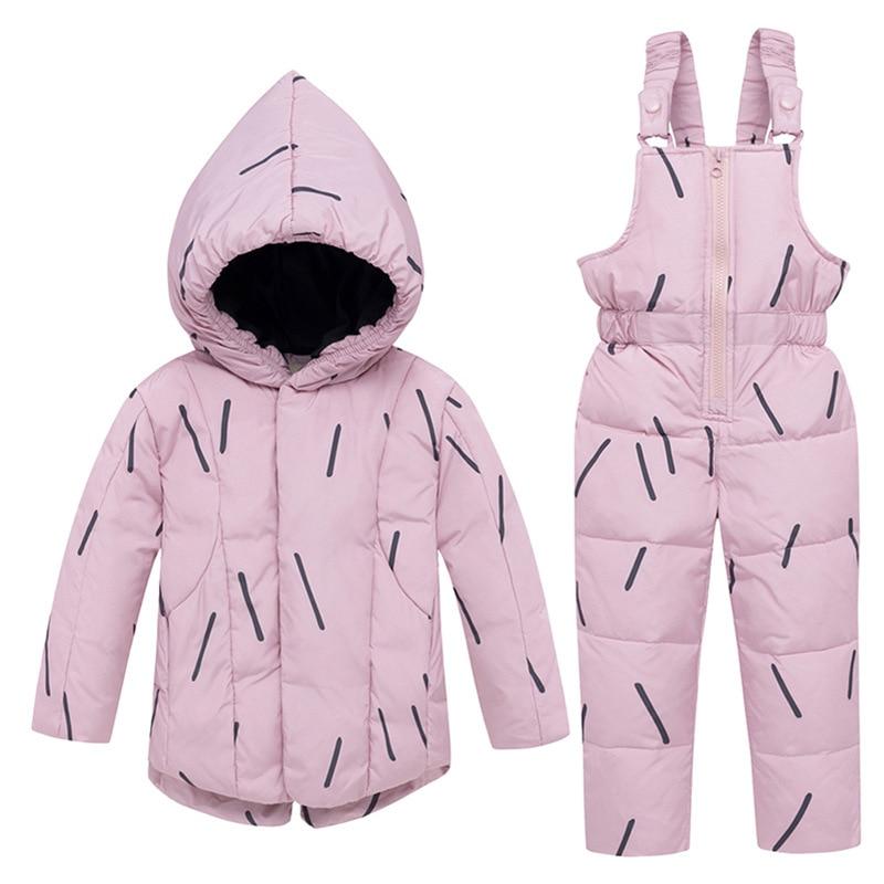 Enfants vêtements hiver doudoune ensemble garçons fille épaissir manteau ensemble 2 pièces ensembles enfants en plein air chaud Ski neige costumes enfants vêtements