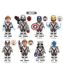 X0251 Building Blocks Figures Marvel Super Heroes Avengers 4 Endgame Space Tony Stark Thor Brick Toys For Children DIY