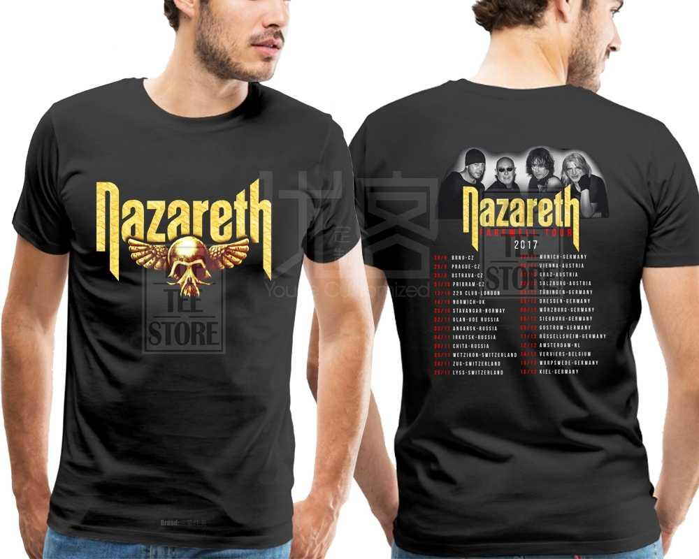 Nieuwe Nazareth Afscheid Tour 2019 T-shirt Men'S Black Maat S Tot 4Xl