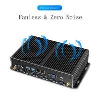 Fanless Mini PC Desktop Computer Broadwell Intel NUC Core i3 5005U MiniPC i5 5250U Win7/8/10 Mini PC Barebone i5 4200u Intel PC