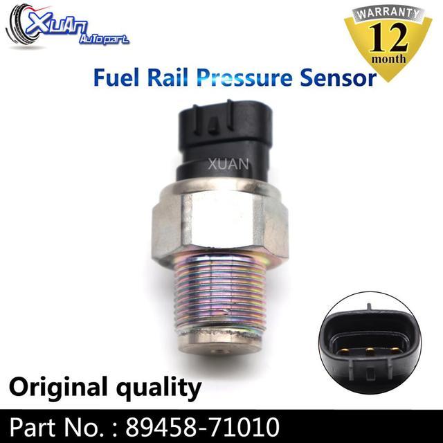 XUAN Fuel Rail Pressure Sensor Diesel Common Rail Valve 89458 71010 For Toyota Auris Avensis Hilux Land Cruiser 90 Prado RAV 4