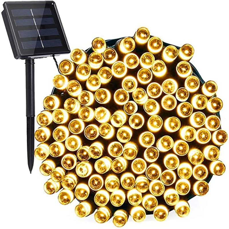 22m 32m Solar Powered Lamp Garden Outdoor Solar LED String Lights Waterproof Fairy Christmas Party Garland Decor Home Street