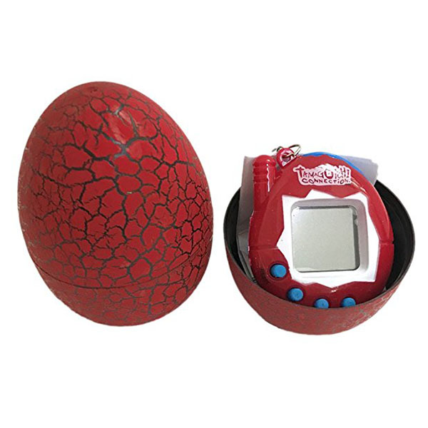 Electronic Pets Child Toy Key Digital Pets Tumbler Dinosaur Egg Virtual Pets Red