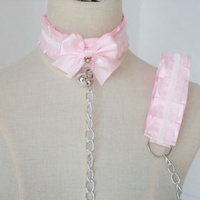 Pink Kittenplay Collar For Cosplay Petplay DDLG Choker
