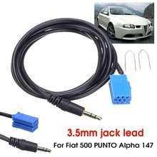 Автомобильный Aux стерео аудио линейный входной кабель адаптера 3,5 мм для iPhone MP3 для Fiat 500 PUNTO Alpha 147 Fiat Lancia Alfa 1,5 м