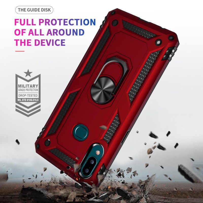 สำหรับSamsung Galaxy A50 A70 J7 J2 Prime A10 กรณีผู้ถือรถแม่เหล็กเกราะหรูหราสำหรับSamsung A50 J5 j7 2017 แหวนโลหะฝาครอบ