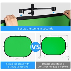 Selens  2 in 1 Backdrop Cloth Magnetic Reflector Holder Studio Screen Photography Background For YouTube Video Studio