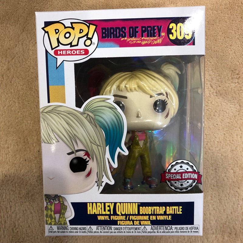 Exclusive Official Funko Pop Heroes: Birds Of Prey - Harley Quinn (Boobytrap Battle) Vinyl Action Figure Collectible Model Toy