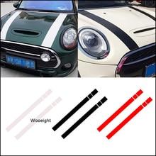 купить Wooeight 2Pcs Black White Red Vinyl Car Bonnet Stripes Hood Sticker Decals Cover dWm2754536 Fit for MINI Cooper R50 R53 R56 R55 по цене 468.29 рублей