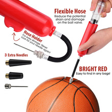 Basketball Pump Multi-function Basketball Football Volleyball 8 Inch Portable Pump Inflatable Tube Air Supply Needle Pump multi function air pump blue