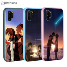 Anime Nama Anda BASEUS Permen Warna PENUTUP UNTUK Samsung GALAXY Catatan 10 9 8 S11 S10 S9 S8 S7 PLUS edge Phone Case(China)