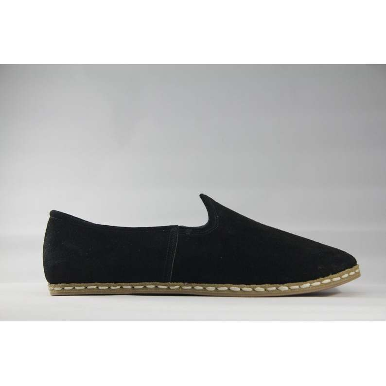 Sabah Mens Ef'e Suede Black Handmade-Leather Traditional English-Womens Shoes 34 to 45 Size EU Size