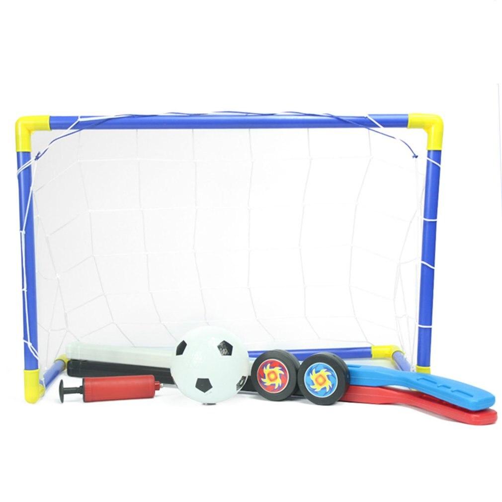 Mini Toys For Children 2-in-1 Mini Football Soccer Hockey Goal Post Net Set Fun Indoor Outdoor Games Sports New Toys Kids Gift
