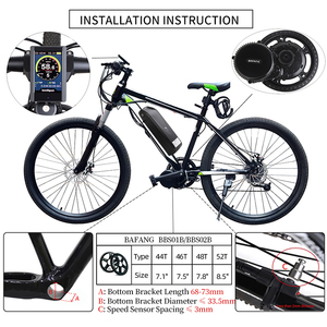 Image 2 - Bafang BBS02B Mid Drive Motor 36V 500W Electric Bicycle Conversion Kits  68 73mm E bike 8FUN Powerful Engine 44T 46T 48T 52T