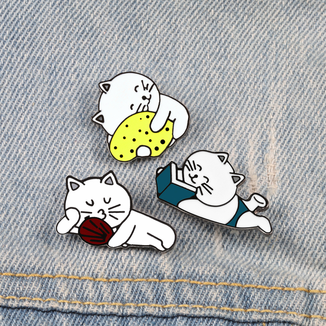 Kitty Brooch Pins Set 1