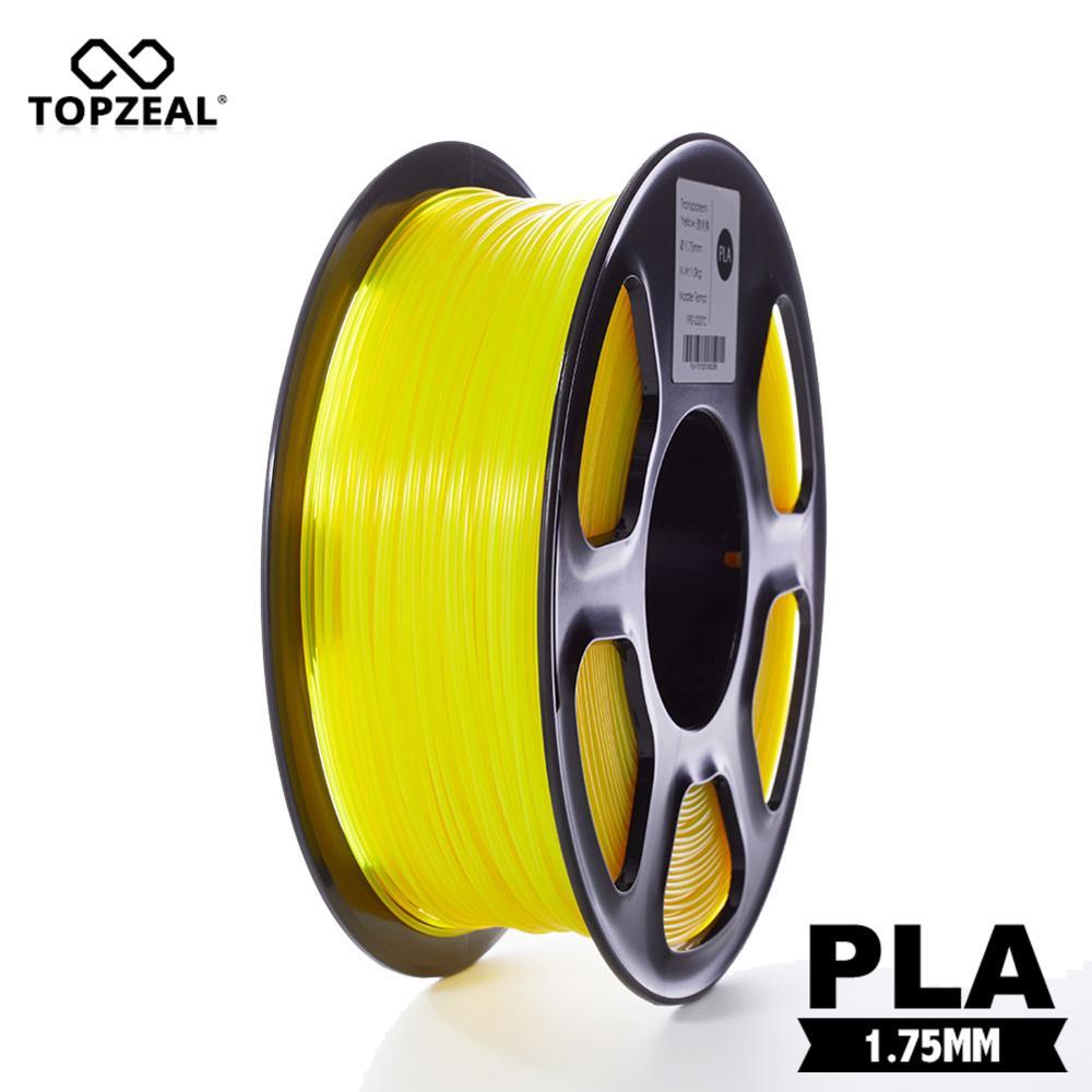 Filamentos de plástico en 3D transparente TOPZEAL filamento PLA 1,75mm 1KG precisión Dimensional +/-0,02mm amarillo transparente para impresora 3D KIT de actualización PLA 2,0 Asistente de estacionamiento frontal 4K a 12K para VW Tiguan 5N 3AA 919 475 M/S