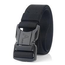 2020 Fashion Nylon Men Belt For Jeans Black Aluminum Safety Pluggable Buckle Male Army Belt Outdoor Work Tactical Belt New Strap