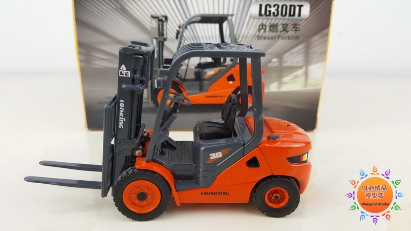 Collectible Alloy Model Gift 1:35 Scale LONKING LG30DT Diesel Fork Lift Engineering Machinery Diecast Toy Model For Decoration