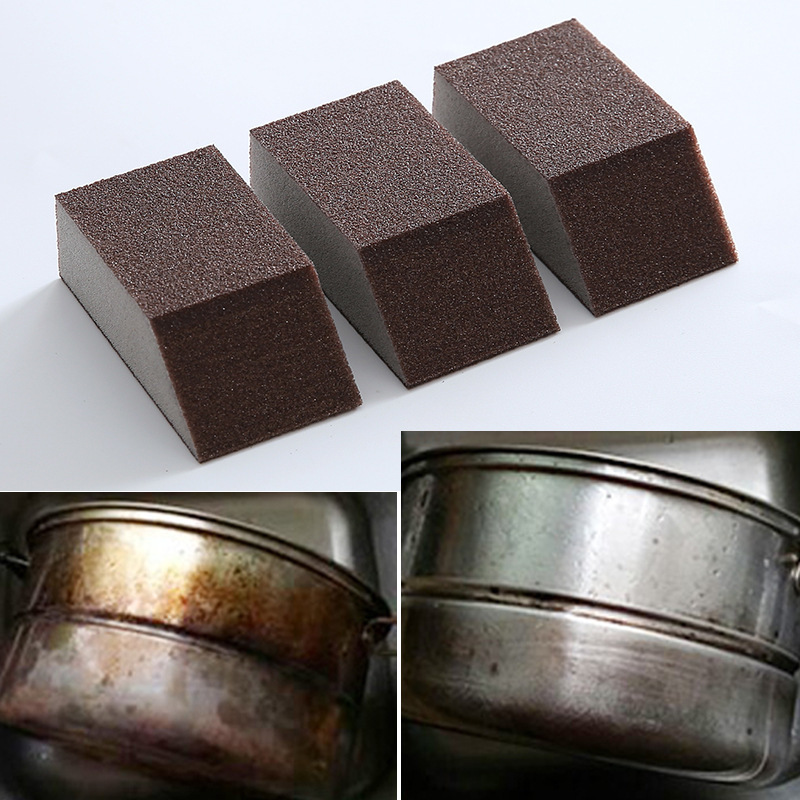 Emery Sand Block Descaling Clean Kitchen Use Magic To Remove The Bottom Of The Pot With A Fine Sand Sponge Kitchen