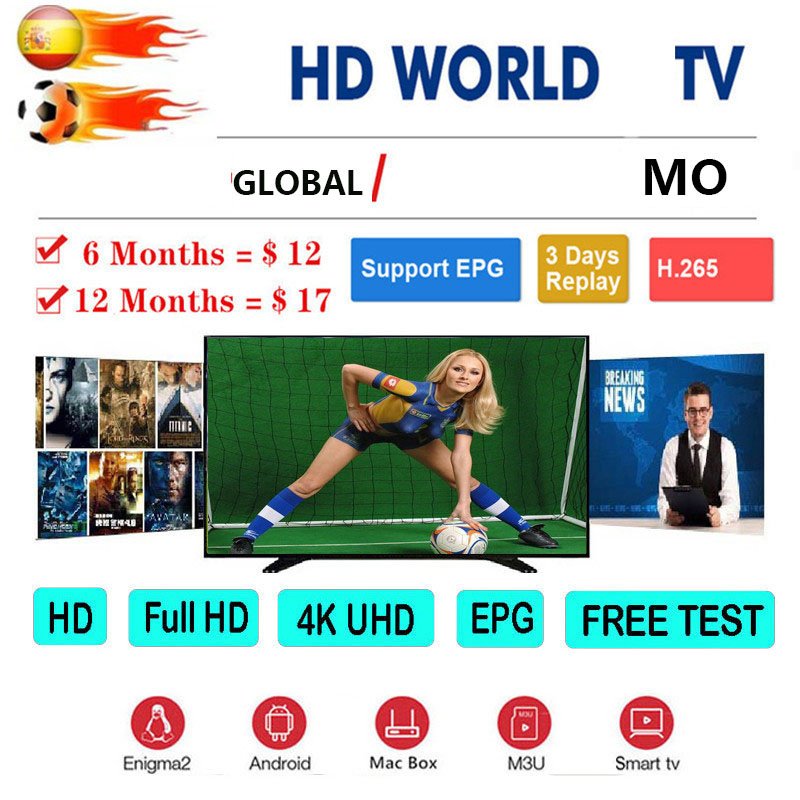 Global 1 Year Europe M3u TV Portugal Spain Germany Dutch Albania EX-YU Tv Server For TV Smart TV Box Android IOS