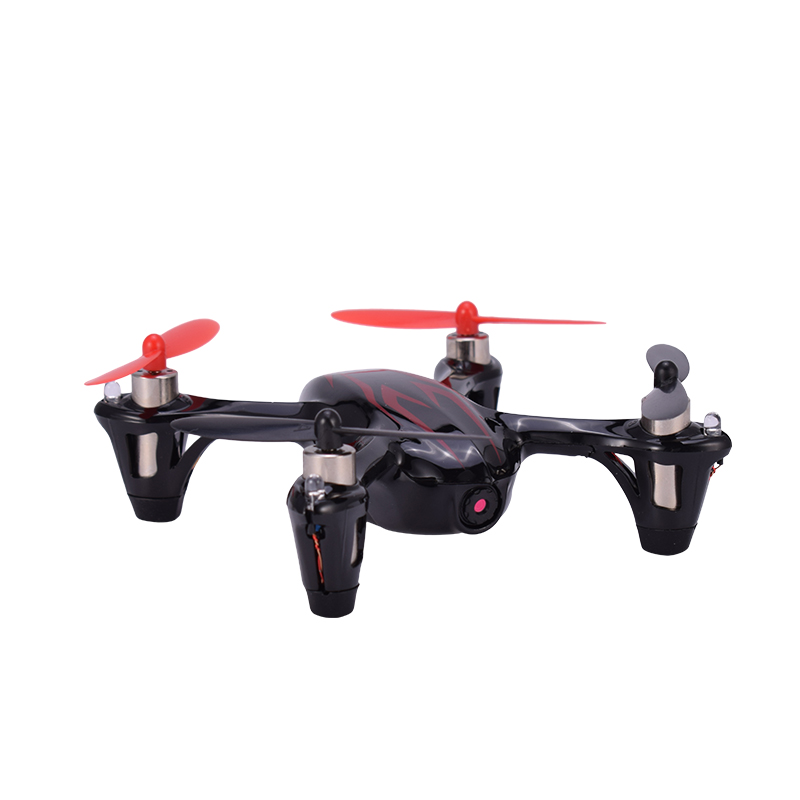 Hubsan H107C X4 720P HD Camera 2.4G 4CH RC Quadcopter Drone Helicopter RTF with LED Lights Remote Control Toys Black Mode2