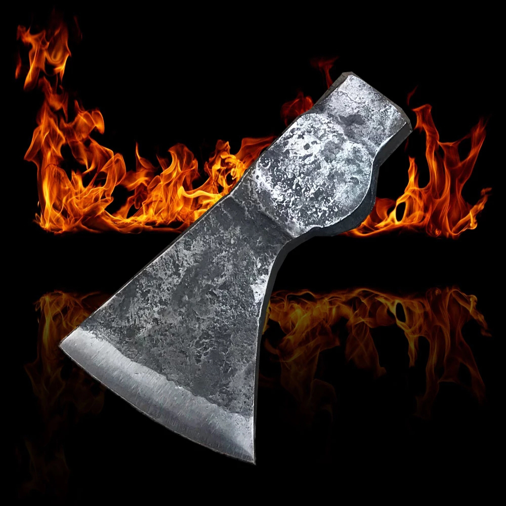 Axe Tomahawk Axe Wooden Handle Felling Axe High Carbon Steel Survival Axe for Outdoor Camping Woodworking Hand Tool