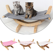 Wooden Hanging Cat Swing Sleeping Hammock Squirrel Bed Puppy Beds Pet beds hammock  Small D20