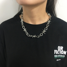 Wire Brambles Necklace Women Hip-hop Punk Style Barbed Wire Brambles Link Chain Choker Gifts for Friends Collares de Moda 2019 cheap feimeng jewelry Zinc Alloy Unisex Chains Necklaces Hiphop Rock Twisted Singapore Chain Metal Bowknot All Compatible Party