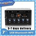 Автомагнитола 2 Din, сенсорный экран 7 дюймов, 7018 дюйма, Bluetooth, стерео, с экраном, FM, USB, SD, MirrorLink, MP5-плеер 2 Din для универсального Авторадио