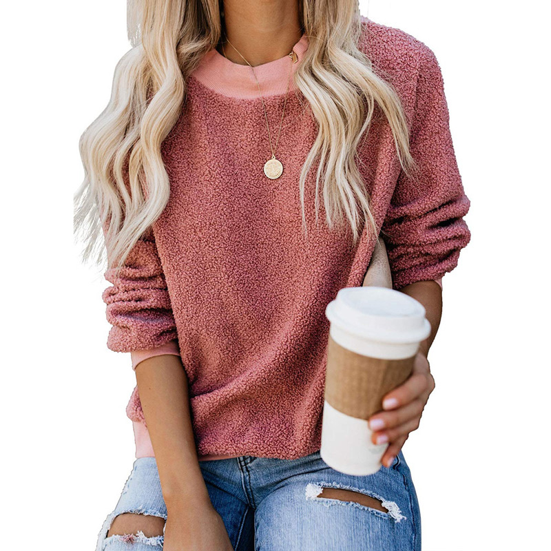 Female Warm Plush Long Sleeve Pullover Women Sweaters 2019 Solid Casual O-neck Sweaters Women Winter Clothes Pull Femme