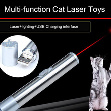 Cat Toys Pets Laser Pointer USB Lighting Toy Scratcher Interactive Pet Supplier Interface