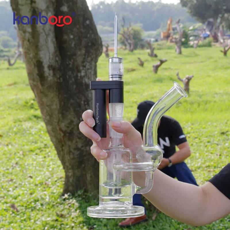 Original Kanboro Subdab Pro Mini Enail Dab Rig Kit With 18650 Battery Wax Concentrates Oil Glass Water Filter Bubbler E Nail