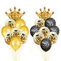 30 40 50 60 jahre Geburtstag Ballon 30th Geburtstag Party Dekorationen Ballon Anzahl 50th Erwachsene Gold Schwarz Geburtstag Partei Liefert