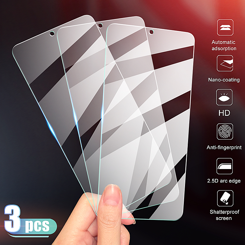 3pcs Tempered Glass On The For Xiaomi Mi 9 8 SE Lite 9T Screen Protector Glass On Xiaomi Mi A3 A2 Lite Protective Glass Film