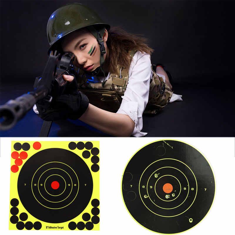الرماية الأصفر الاقتصادي بندقية ورقة الهدف الهدف ملصقات بندقية الرماية التدريب قوس الصيد صياد في الهواء الطلق ممارسة