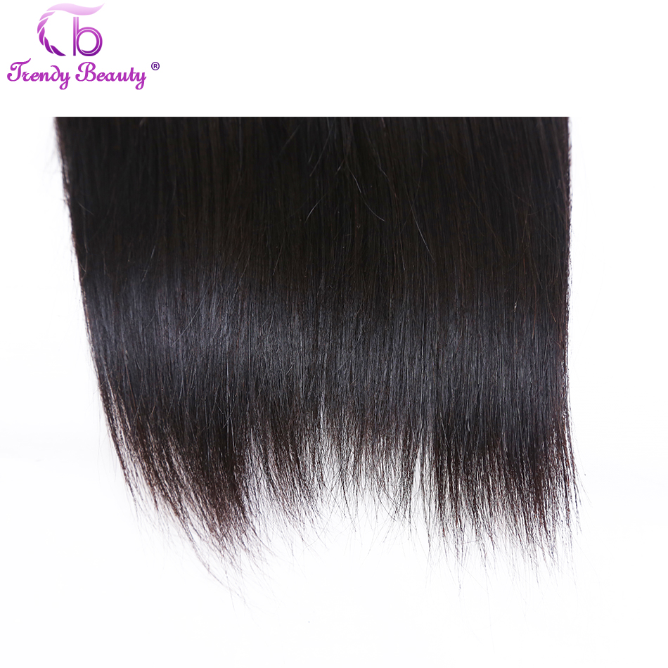 Straight  3/4 Bundles 8-30 Inches Non- Double Weft 100%  s Can Be Dyed Trendy Beauty 6
