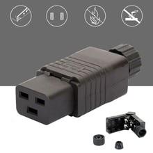 Iec pdu ups 16a 250vac 320 c 19 plug, tomada de iec c19 diy, conector iec 320 c19 c19 plugue femea conect