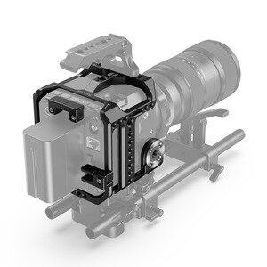 Image 5 - SmallRig Камера клетка для Z CAM E2 S6/F6/F8 Корпус для цифровой зеркальной камеры с рельс NATO/интегрированный ARRI Rosette/HDMI & USB C хомут для кабеля реечная оснастка корзины 2423