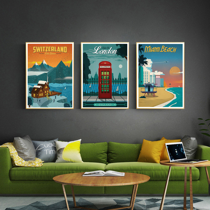 5D DIY New York Netherlands Amsterdam London Diamond Painting Vintage Europe America Travel Cities Landscape Diamond Cross Stitch DIY Home Decor Painting image
