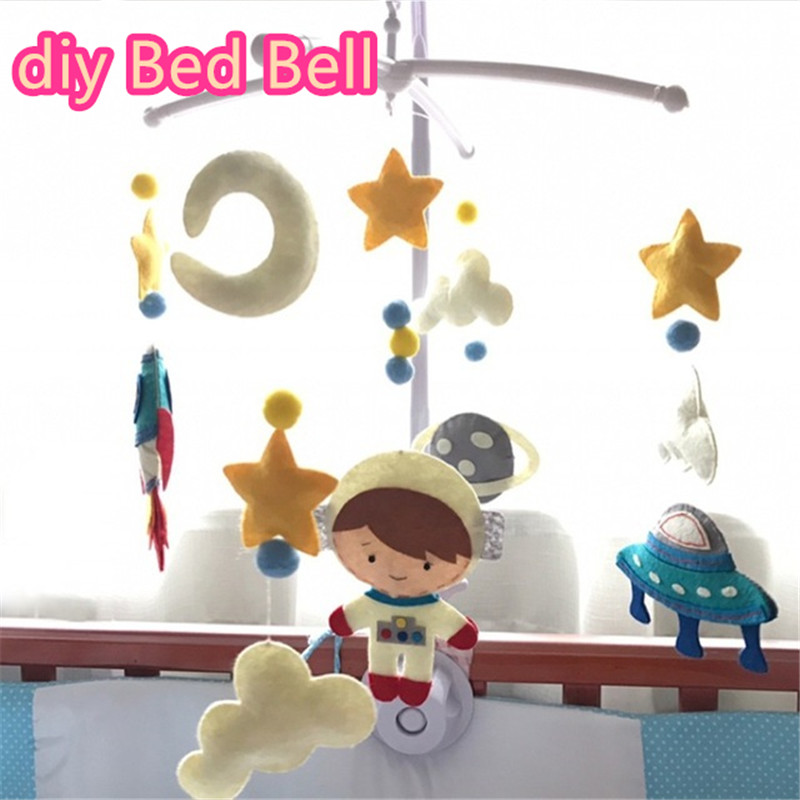 Baby Rattles Bracket Set Toy Mobile For Crib Handmade DIY Bed Bell Material Package Baby Toys 0-12 Months Made By Yourself
