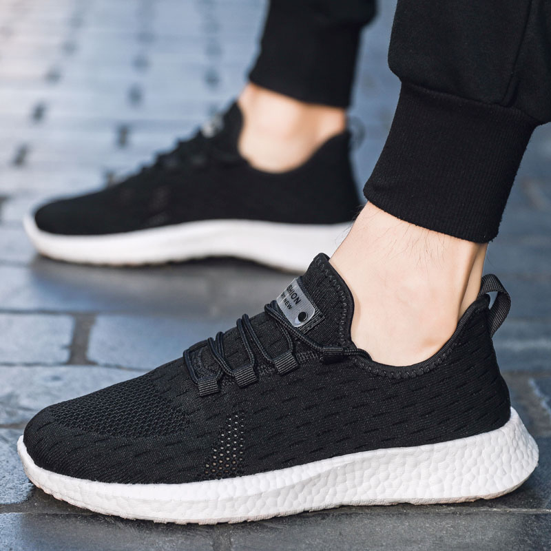 Men Sneakers 2020 Casual Shoes for Mens Fashion Trainers Breathable Man White Sneaker Tenis Hombre Zapatillas Deportiva Black