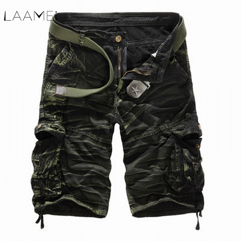 New Men Camouflage Cargo Shorts 2020 New Casual Shorts Male Loose Workout Shorts Man Military Short Pants Plus Size No Belt