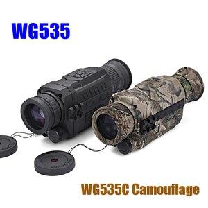 Image 3 - WG540 אינפרא אדום דיגיטלי ראיית לילה חד עיניות עם 8g TF כרטיס מלא כהה 5X40 200m טווח ציד משקפת ראיית לילה אופטיקה