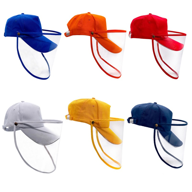 PPE Cap Anti Virus Hat Anti Epidemic Bacteria Cap With Anti-dust Face Mask Cap With Transparent Cover For Outdoor Safe Wear